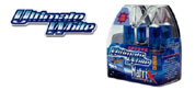Ultimate White 95% xenon super bright blue tint HID look headlight bulbs available at       LIGHTLENS.COM