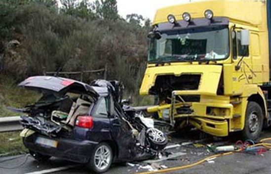 fatal car vs. truck crash