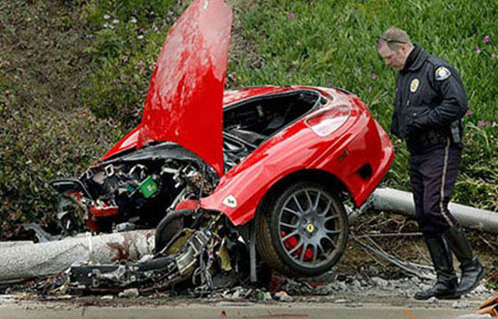 fatal Ferrari crash